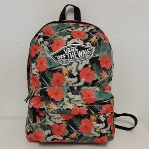Van's Off The Wall Hibiscus Hawaiian Backpack